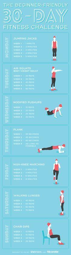 Jumpstart your fitness regimen with this super-easy beginner's challenge.