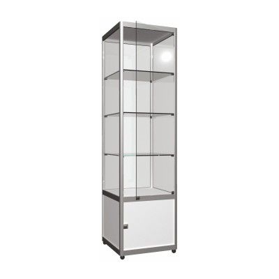 Tower Showcase – Narrow Hinged Door & Locker