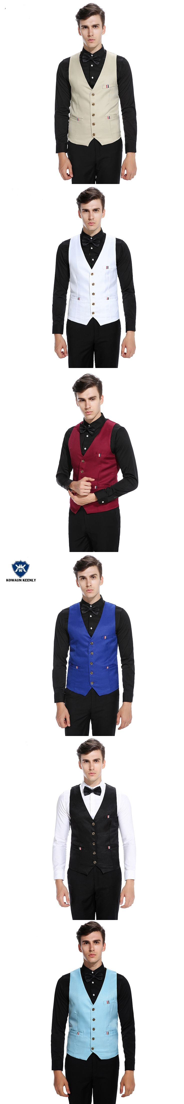 6 Color Slim Fit Mens Wedding Waistcoats Male Suit Vintage Vest Mens Classic Vest Wine Red Gilet Formal Vest Business Coletes