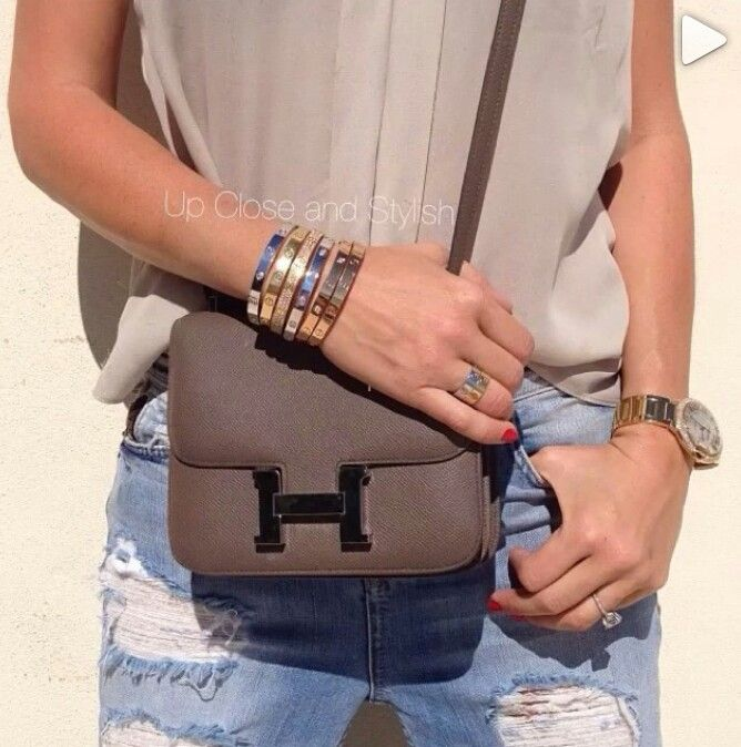 """Hermes """"Constance"""" Bag and some Cartier bling"""