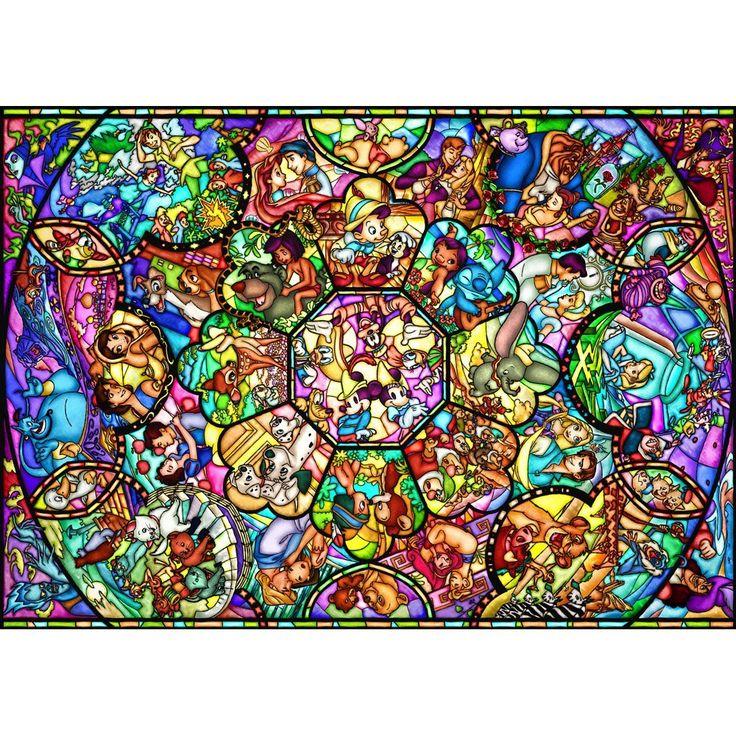 【楽天市場】ディズニー ステンドアートジグソーパズル1000ピース オールスター ステンドグラス DS-1000-764:ワイドマート