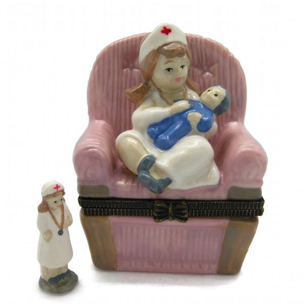 Children's Jewelry Boxes Nurse and Baby