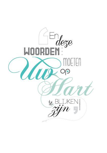 jw.org Made by me. 'En deze woorden... moeten op uw hart blijken te zijn.' Deuteronomium 6:6