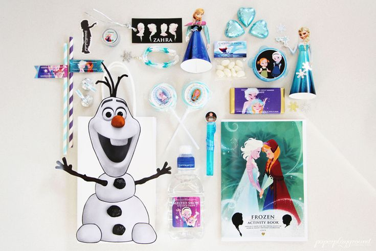 FROZEN THEMED BIRTHDAY PARTY #frozen-gift-bags #FROZEN-PARTY, #FROZEN-BIRTHDAY #frozen-dessert-table #frozen-cupcakes, #frozen-cake #frozen-party-ideas