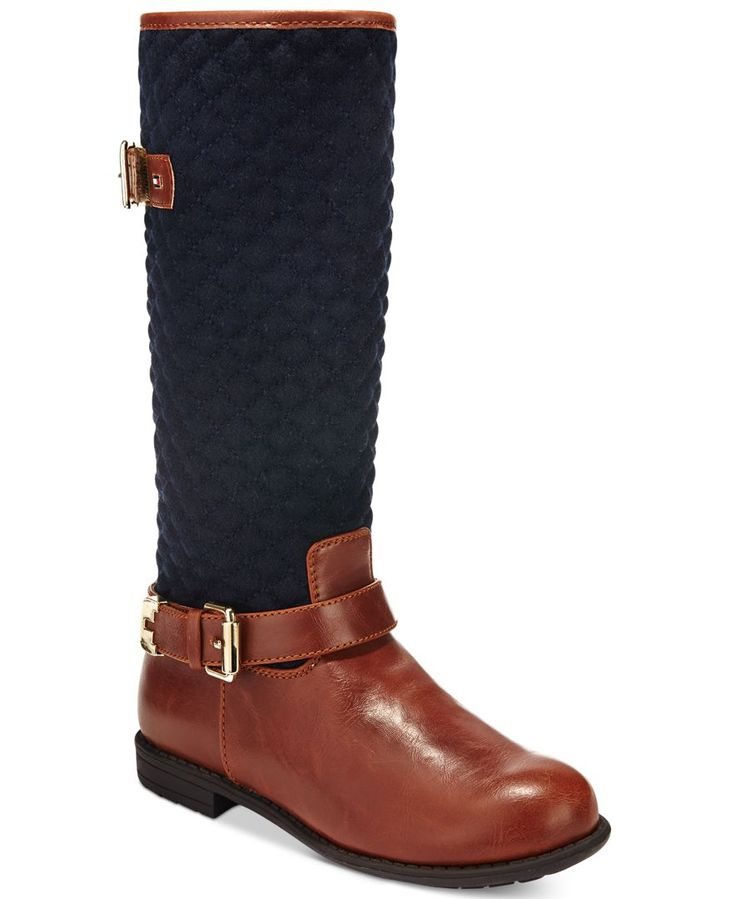 Tommy Hilfiger Little Girls' or Toddler Girls' Andrea Equestrian Boots