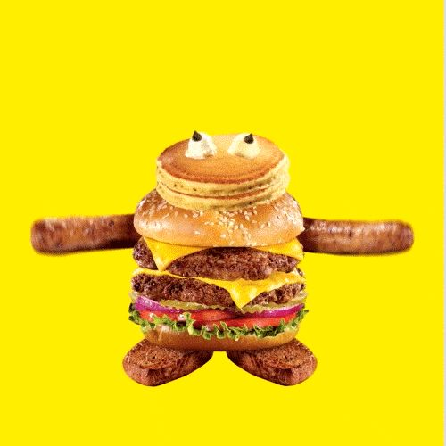 New party member! Tags: dance lol food wtf monster tongue breakfast dinner burger bounce lunch bacon goofy pancakes hamburger steak sausage dennys cheeseburger justin gammon muppet