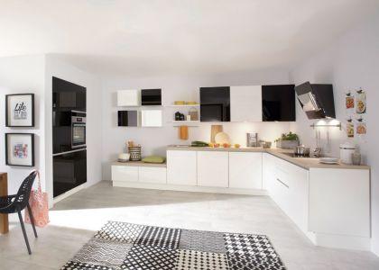 46 best Küchen images on Pinterest Cook, Kitchen ideas and House - küche schwarz weiß