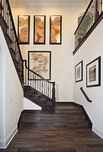 Walnut Residence - asian - staircase - orange county - International Custom Designs, art higher than expected, nice