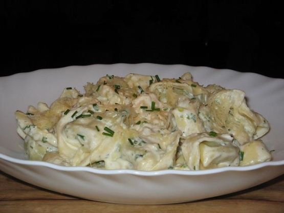 Spinach And Ricotta Tortellini With Ricotta And Herb Sauce Recipe - Food.com