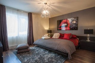 Chic Et Glam - Gray and Red Bedroom