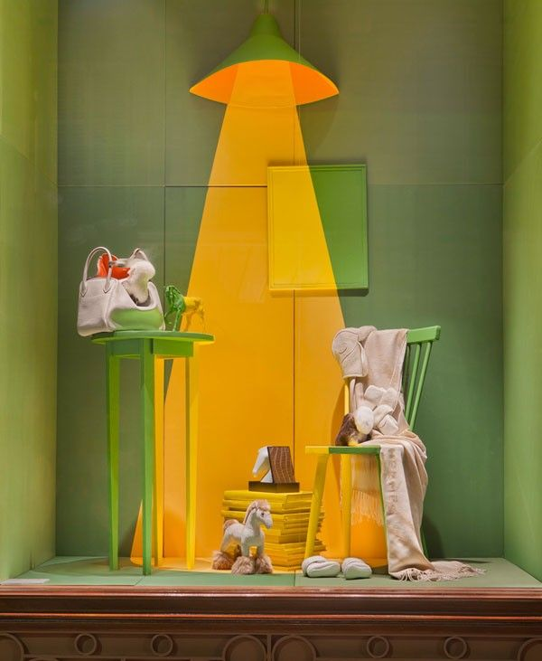 "Hermès,France, display by Dimitri Rybaltchenko and photo by Patrick Burban, ""In the Spotlight"", pinned by Ton van der Veer"