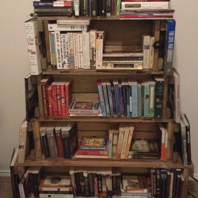 ammo box book shelves about books pinterest. Black Bedroom Furniture Sets. Home Design Ideas