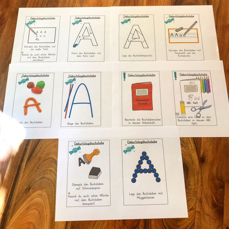 Letter Birthday – signs for the stations