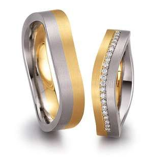 Rings in 18 Karat Gold and Platinum 950 combination