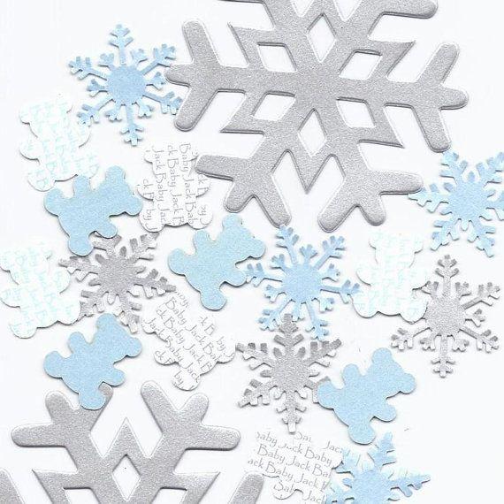 Snowflake Baby Shower Theme Custom Banner By SetToCelebrate