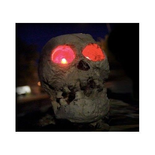 Solar Powered Skull Halloween Fright Light Figurine RR-128338 Outdoor SKULLar #ReusableRevolution