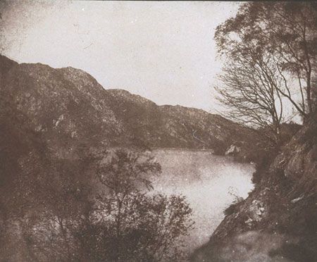 William Henry Fox Talbot is widely recognised as the inventor of modern photography. This view of Loch Katrine was published in 1845 as one of the illustrations for 'Sun Pictures in Scotland'. Inspired by the writings of Sir Walter Scott, this was one of the very first photographically illustrated books.