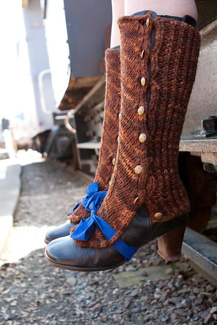 Excited to make these: The Rivet Spats pattern by Katrina Elsaesser  @Laura Jayson Lansing