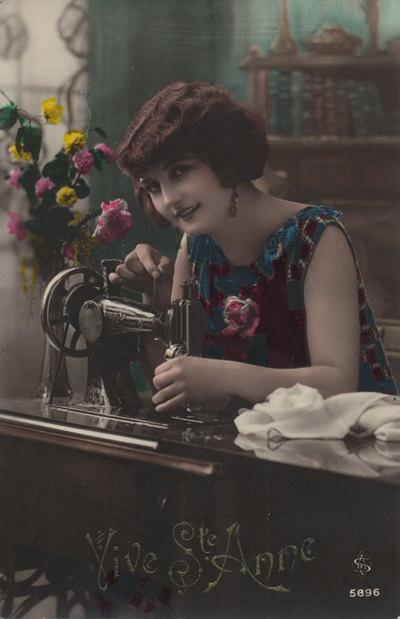 sewing postcard