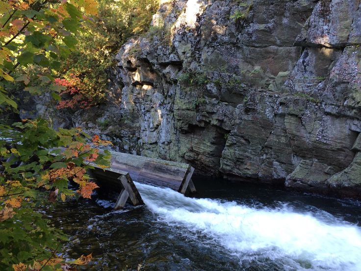 Hawk Lake Log Chute is the last remaining log chute in #Ontario. Built in 1861, it is now a historic site. #MyHaliburtonHighlands
