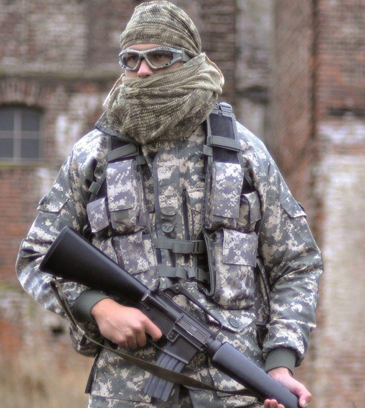 Militär Einsatzweste Tactical, 12-Taschen, At-Digital / mehr Infos auf: www.Guntia-Militaria-Shop.de