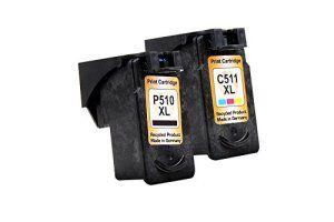 Compatible pour Canon Pixma MP 230 Cartouche d encre Promo Pack Cyan/Magenta/Jaune/Noir 2970B010 XXL PG-510 & CL-511 1x 10 & 1x 12 ml
