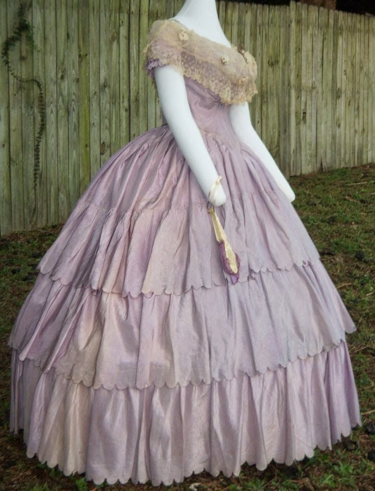 238 best 1850 1865 ballgowns images on pinterest prom for Civil war style wedding dresses