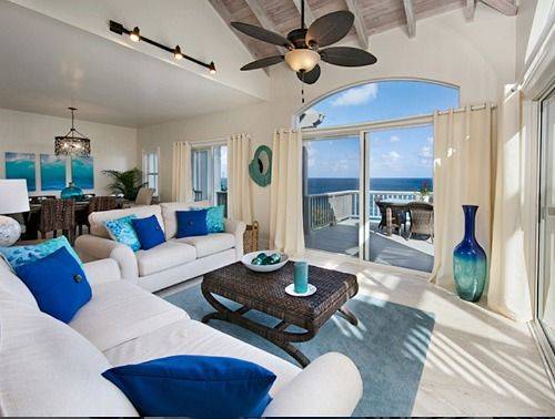Contrast Rich Ocean Blue Decor Ideas From A Caribbean Home: Http://www