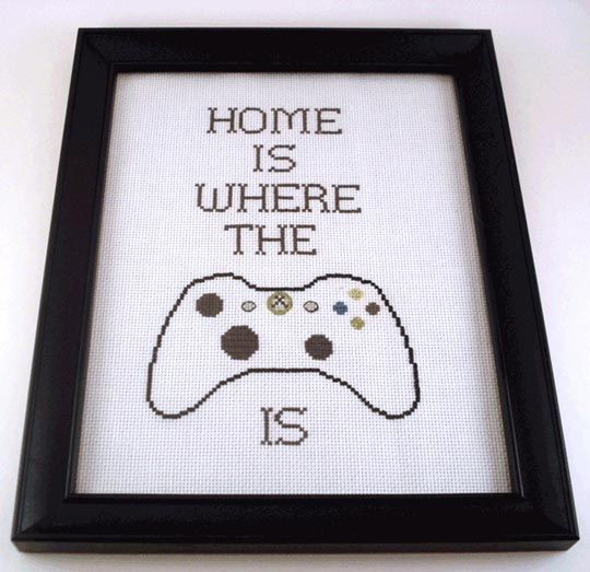 Cross stitch pattern for xbox controller stitching