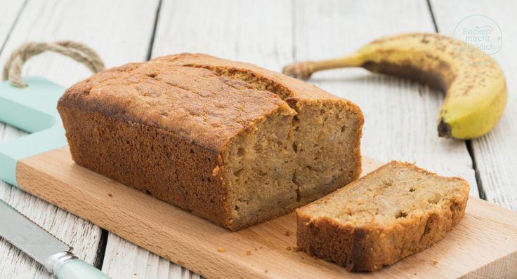Lust auf köstliches Banana Bread wie aus den USA? Dieses saftige Bananenbrot ist die beste Verwertung für reife Bananen. Ein Genuss für Groß und Klein!