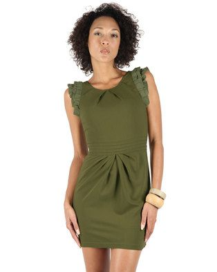 Opt for a sleek, streamlined and sophisticated lookwith this A111 Waist Pintuck Dress by Mint. Itfeatures a round neckline, frill detail long the sleeves adding old-school flair to the streamlined look. It also features pintuck detail along the waist as well as pleats. Match it up with a pair of nude, court shoes and a sassy, little clutch purse to complete the vintage-inspired style.