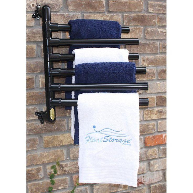 Pool Towel Sign With Hooks: Float Storage Original Hanging Towel Rack