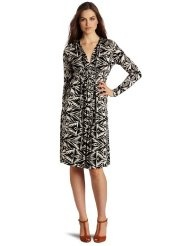 Rachel Pally Womens Long Sleeve Caftan Print Dress