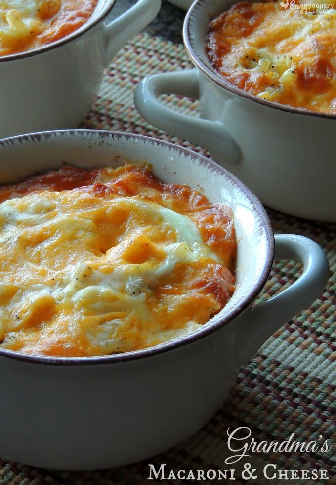 Grandma's Homemade Macaroni & Cheese (1) From: Cozy Country Living, please visit