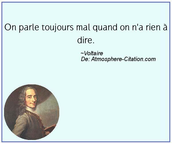 Citation de Voltaire - Proverbes Populaires