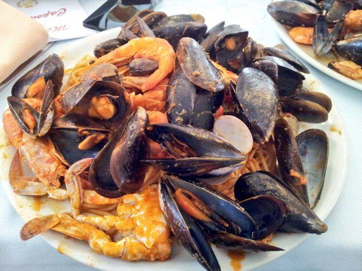Gli spaghetti allo scoglio del Duca di Bentivoglio (#Bologna). #meraviglia #troppobuoni #spaghetti #cibo #food #fruttidimare #seafood