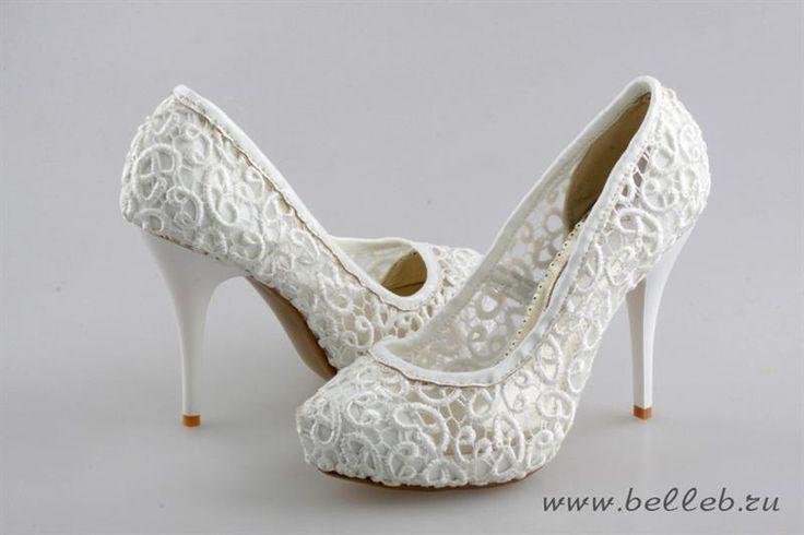Туфли из кружева цвет айвори