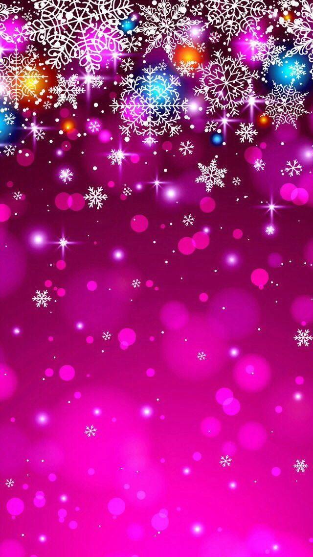 Christmas themed iPhone wallpaper.. the color combination is much more original than the classic red and green, but still perfect!