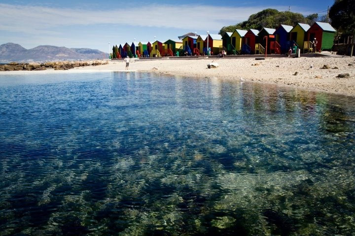 Beach Huts, St James in Cape Town