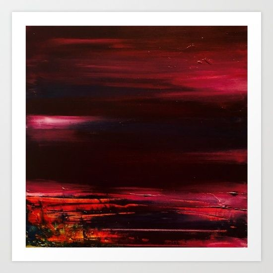 Abstract - Red Landscape Art Print by Sophie_lemieux. Worldwide shipping available at Society6.com. Just one of millions of high quality products available.