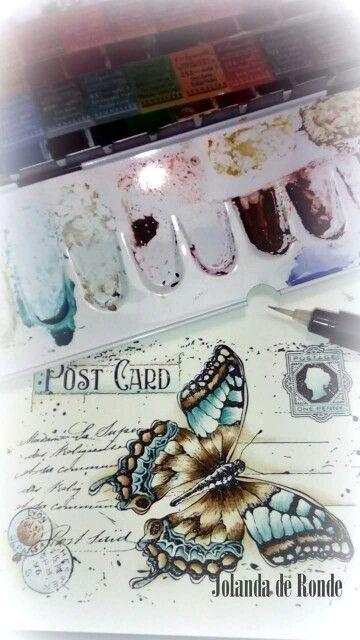 Noor! Design  butterflie stamp