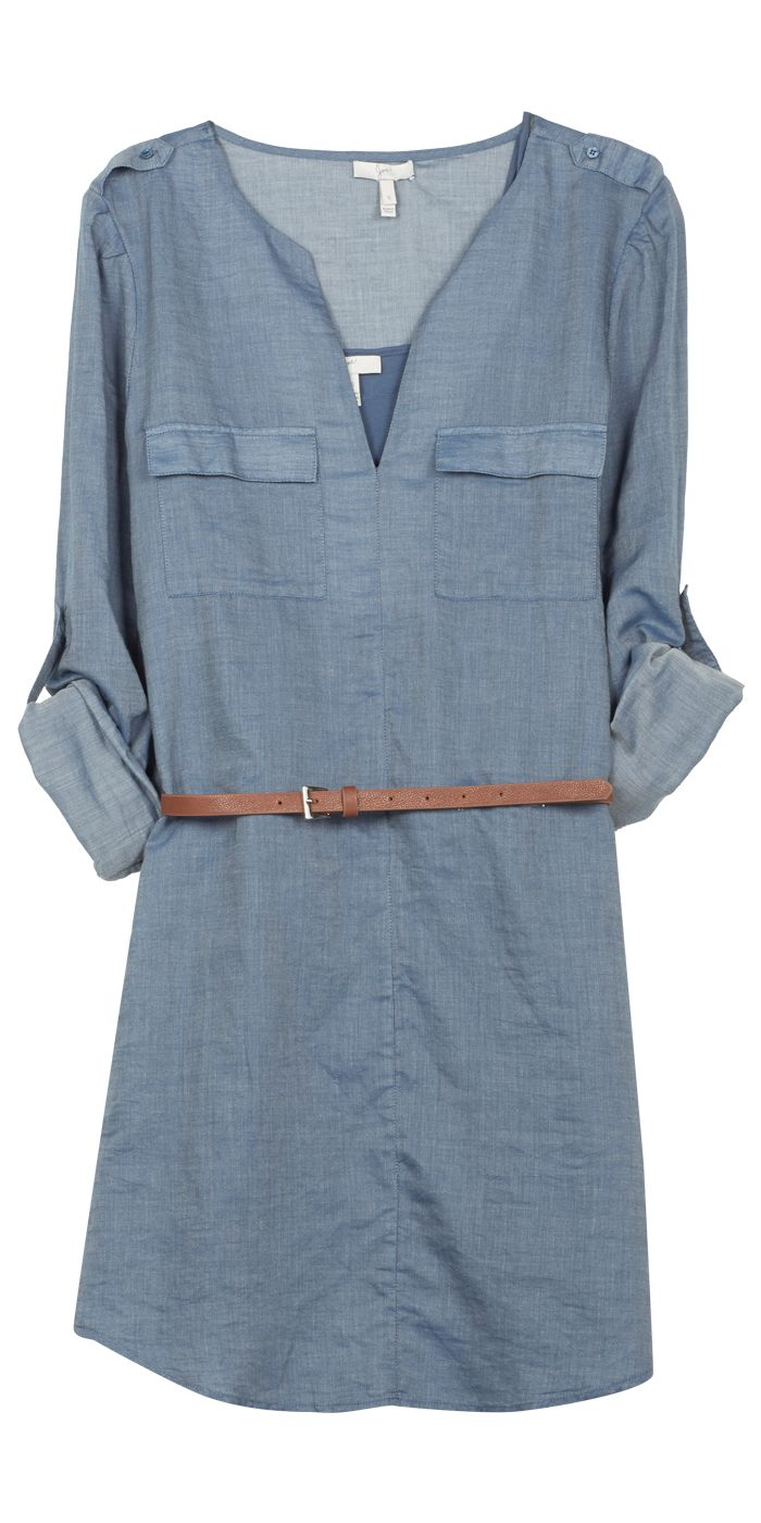 """Rathan"" Denim Shirt Dress by Joie"