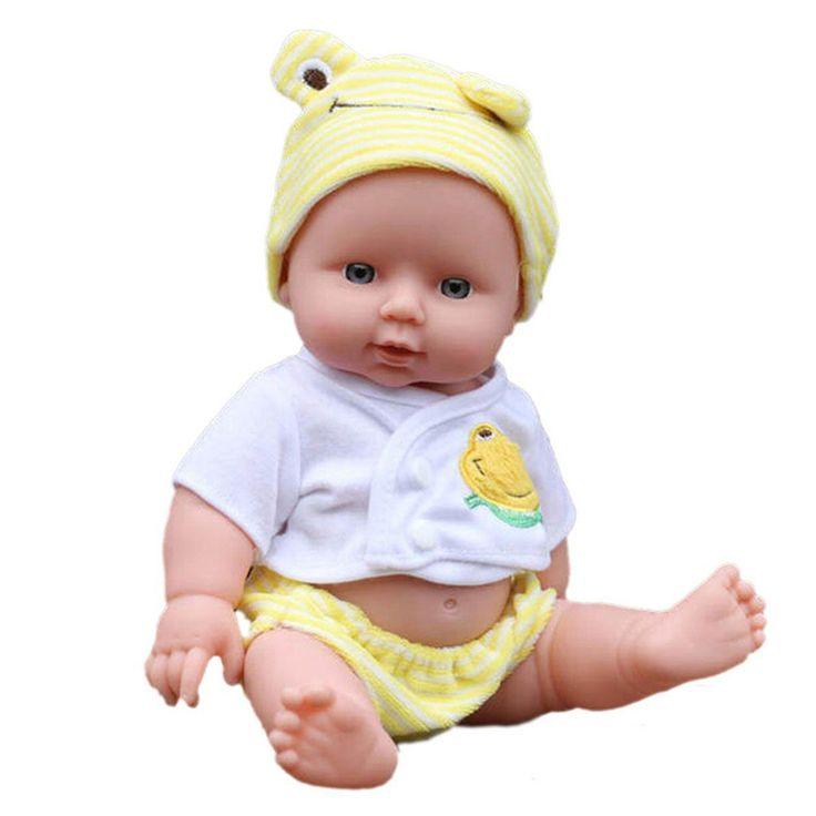 30センチreborn baby人形ソフトビニールシリコーンリアルな新生児赤ちゃん人形用女の子誕生日chirstmasのギフトランダムな色