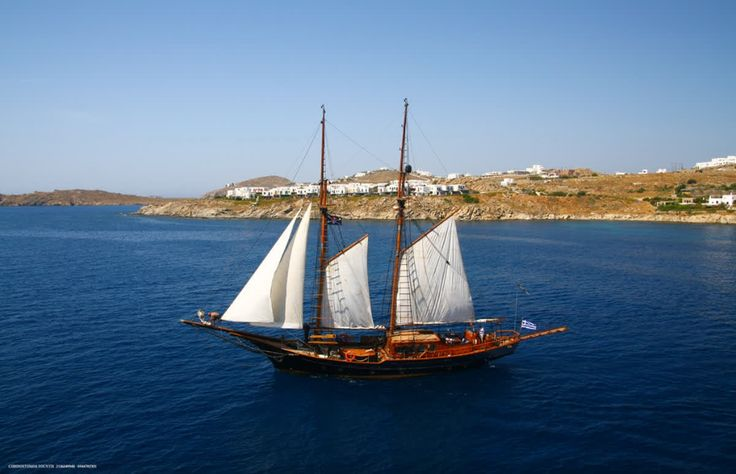 The sun is on your back and life's a breeze! Sailing in style around the #Cyclades in the two-hundred-year-old  #yachtprince, with all mod cons aboard #yachtlife #luxurylifestyle #luxuryhotels #kivotosmykonos #instatraveling #mykonos #yachtchartering #exclusiveEvents #Aegean http://qoo.ly/i5kzf