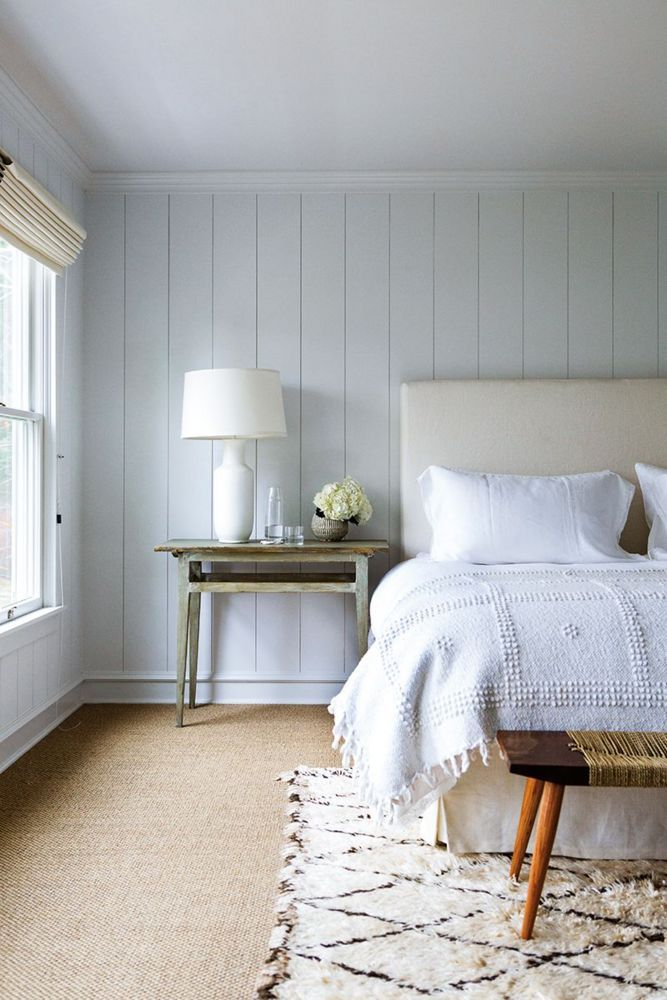 Soft layers of white and cream allow textures to make a statement in the bedroom.