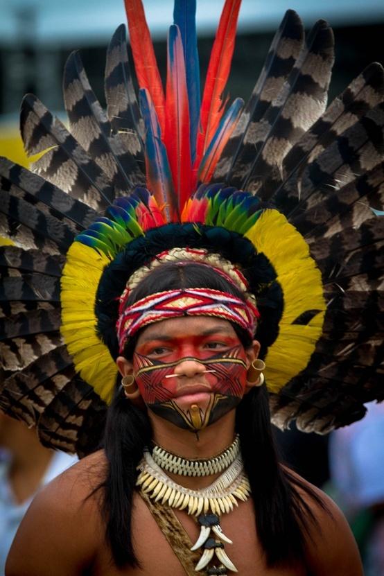 Pataxo Indian, Kari-Oca, Jacarepagua, Rio de Janeiro, Brazil. Faces of the nations. #ywamlausanne