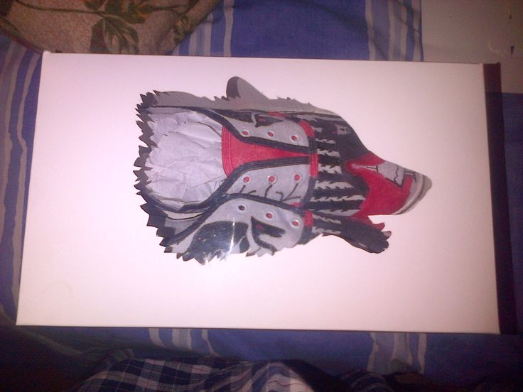 my shoe design and packaging  theme: Red riding hood