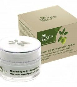 Rizes Crete Anti-Aging Cream For All Skin Types 40+ With Olive Oil*, Hyaluronic Acid, Helichrysum & Avocado