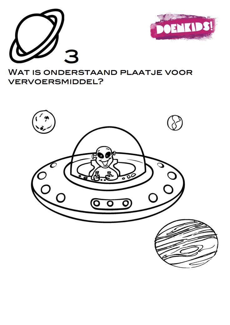 Missie Space - speurtocht te downloaden op www.activitheek.nl
