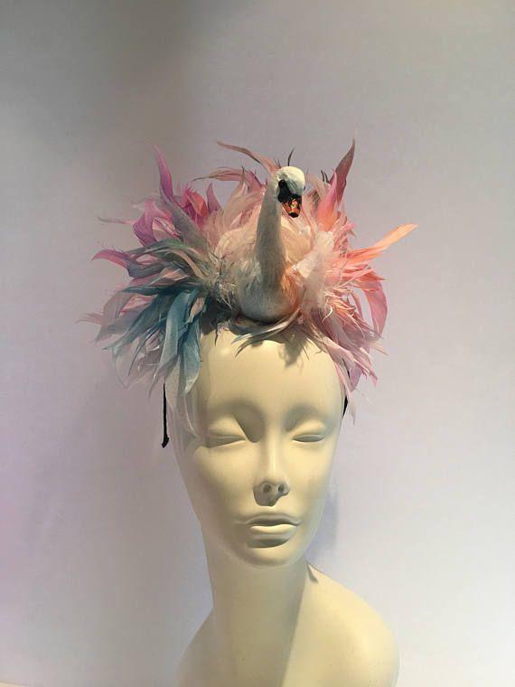 Multi color Fascinator Fascinators Bird Headband Feather